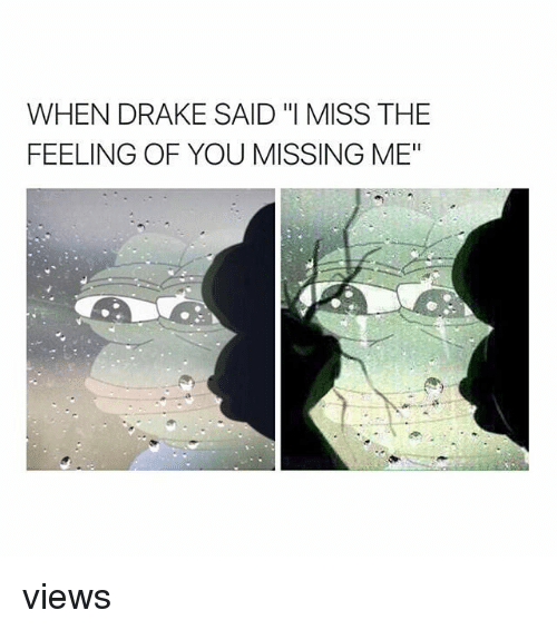 When Drake Said I Miss The Feeling Of You Missing Me Views Drake
