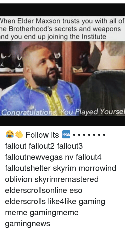when elder maxson trusts you with all of he brotherhoods 18815117 ✅ 25 best memes about fallout radroach fallout radroach memes