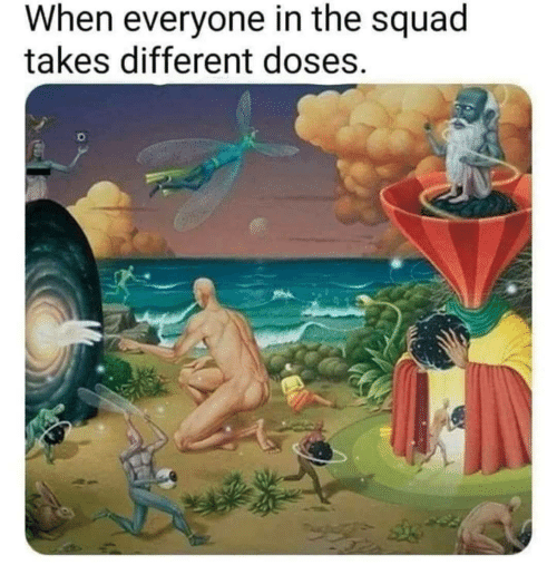 Squad, Different, and Everyone: When everyone in the squad  takes different doses