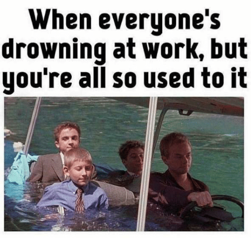 When Everyones Drowning At Work But Youre All So Used To It Work
