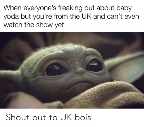 When Everyones Freaking Out About Baby Yoda But Youre From