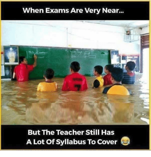 Memes, 🤖, and Lots: when Exams Are Very Near...  But The Teacher Still Has  A Lot of syllabus To cover