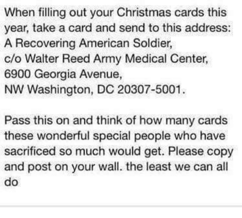when filling out your christmas cards this year take a card and send