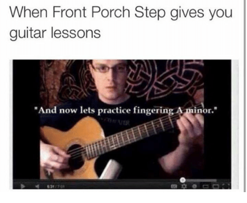 when front porch step gives you guitar lessons and now 1581799 ✅ 25 best memes about smell my fingers smell my fingers memes