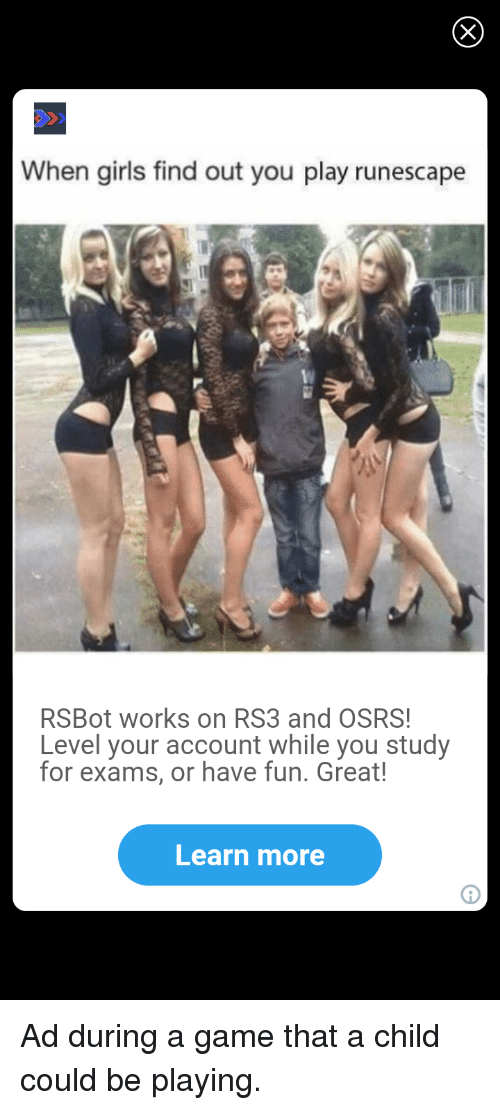 When Girls Find Out You Play Runescape RSBot Works on RS3
