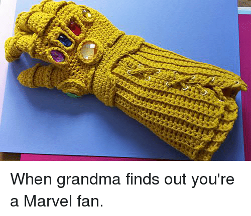 Dank, Grandma, and Marvel: When grandma finds out you're a Marvel fan.