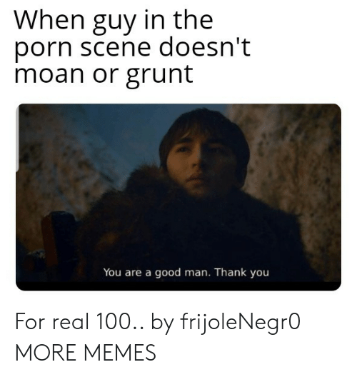 Dank, Memes, and Target: When guy in the  porn scene doesn't  moan or grunt  You are a good man. Thank you For real 100.. by frijoleNegr0 MORE MEMES
