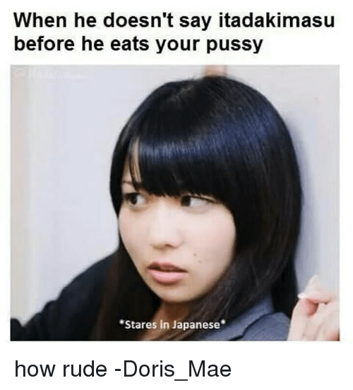 When He Doesnt Say Itadakimasu Before He Eats Your Pussy Stares In