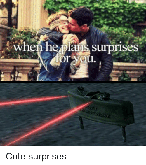 Cute, Video Games, and You: when he plans surprises  or you Cute surprises