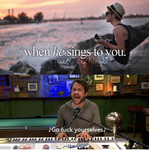 Memes, Fuck, and 🤖: when he sings to Vou.  Go fuck yourselves