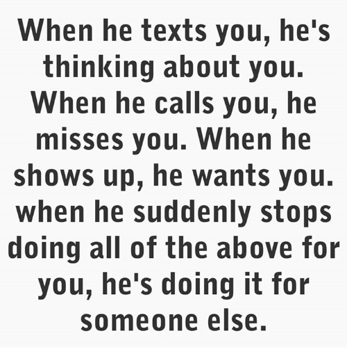 When He Texts You He's Thinking About You When He Calls You He