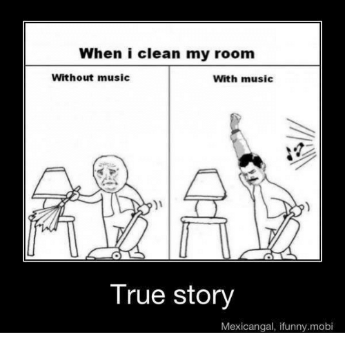 When I Clean My Room Without Music With Music True Story