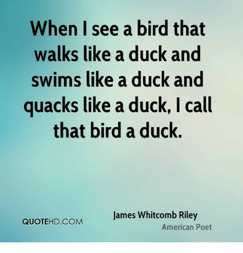 If it quacks like a duck quote