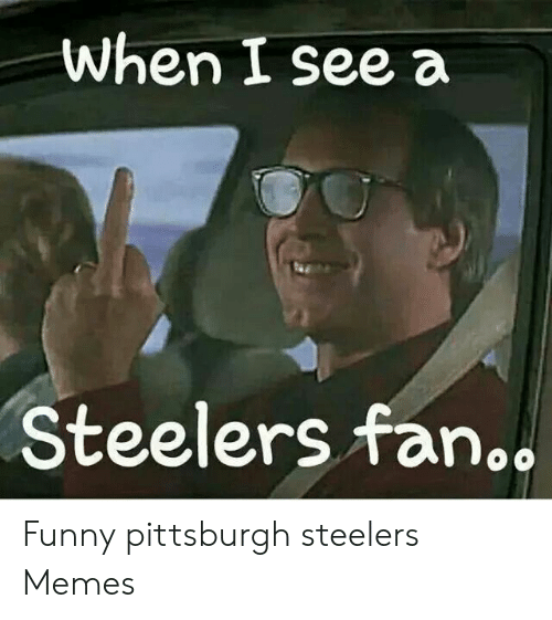 When I See A Steelers Fan Funny Pittsburgh Steelers Memes Funny