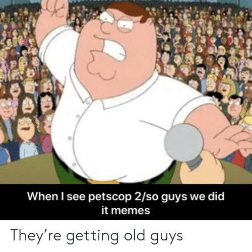 Memes, Old, and Did: When I see petscop 2/so guys we did  it memes They're getting old guys