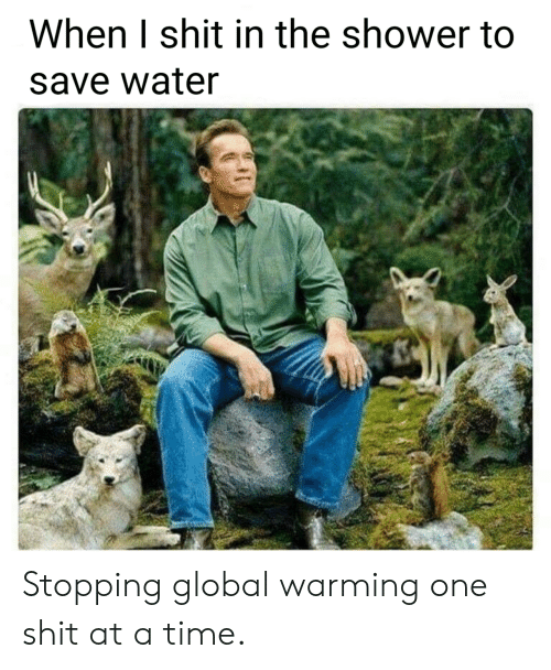 Global Warming, Shit, and Shower: When I shit in the shower to  save water Stopping global warming one shit at a time.