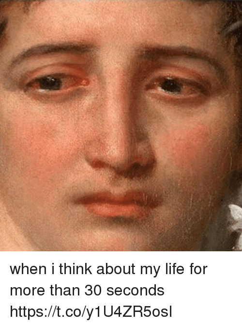 Life, Girl Memes, and Think: when i think about my life for more than 30 seconds https://t.co/y1U4ZR5osI