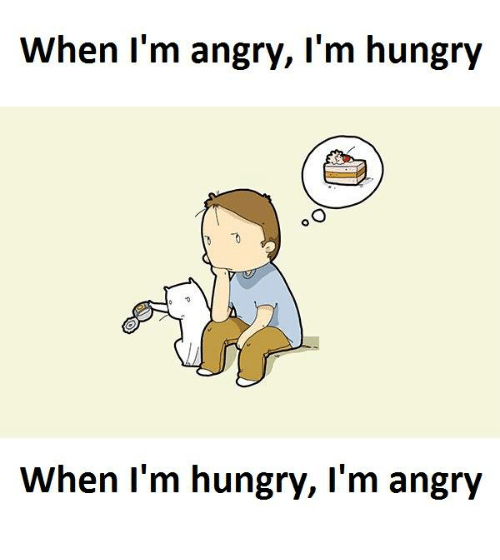 Hungry, Angry, and Ims: When I'm angry, I'm hungry  When I'm hungry, I'm angry