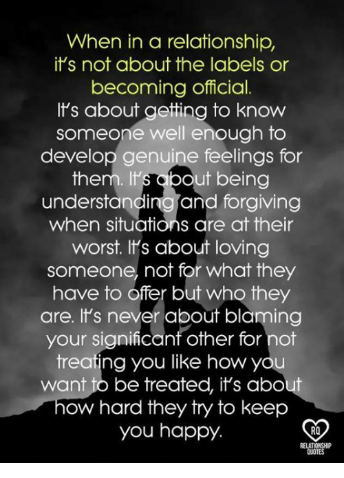 When In A Relationship Its Not About The Labels Or Becoming