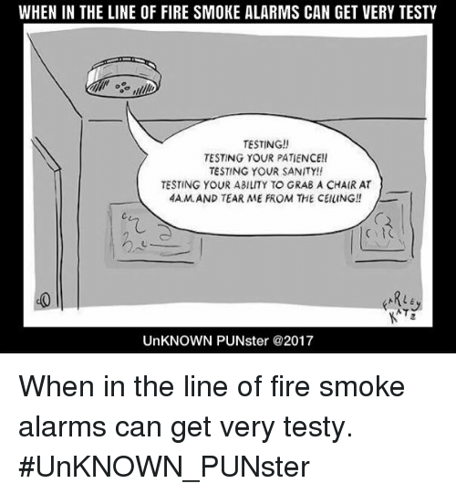When In The Line Of Fire Smoke Alarms Can Get Very Testy Testing