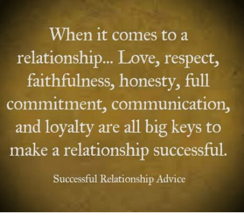 refers to loyalty and faithfulness in a relationship