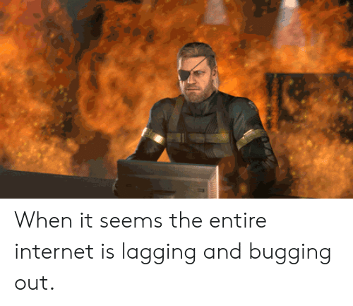 Internet, Seems, and  Bugging: When it seems the entire internet is lagging and bugging out.