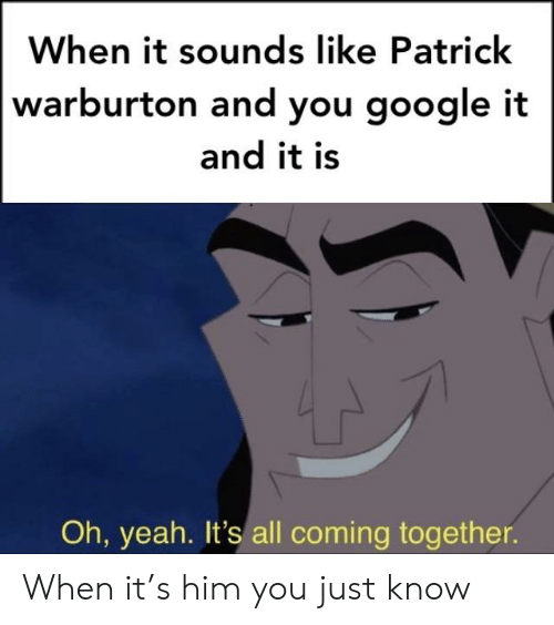 When It Sounds Like Patrick Warburton and You Google It and