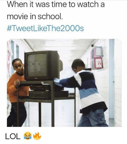Lol, School, and Movie: When it was time to watch a  movie in school  LOL 😂🔥