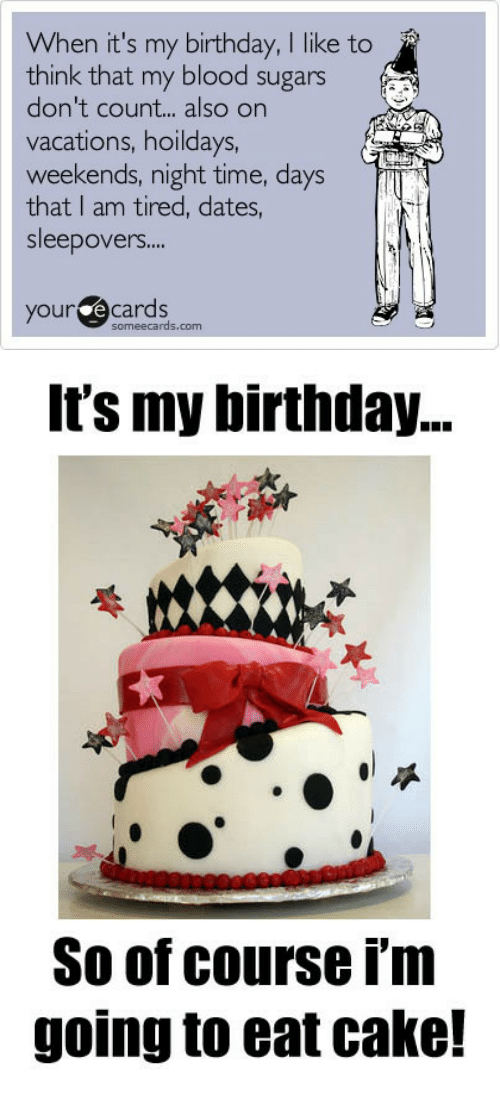 Birthday Cake And Ecards When Its My I Ike To Think
