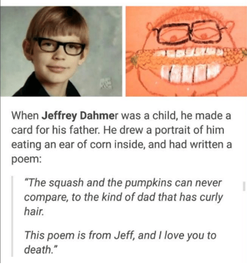 When Jeffrey Dahmer Was A Child He Made A Card For His