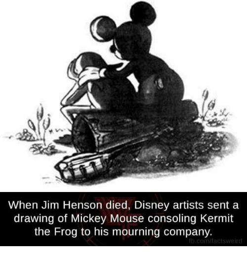 Kermit The Frog Memes And Mickey Mouse When Jim Henson Died Disney