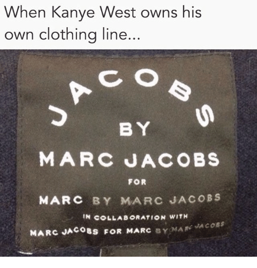 f17f7322f02ad When Kanye West Owns His Own Clothing Line BY MARC JACOBS FOR MARC ...