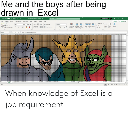 Excel, Knowledge, and Job: When knowledge of Excel is a job requirement