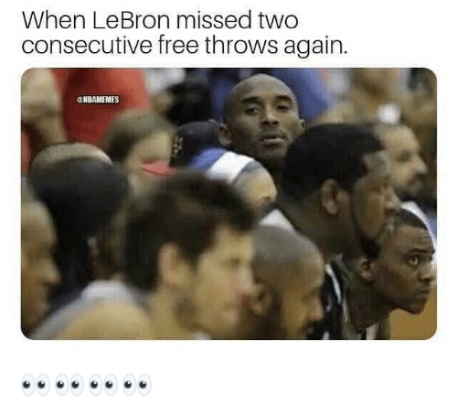 Nba, Free, and Lebron: When LeBron missed two  consecutive free throws again.  2  OHBAMEMES 👀👀👀👀