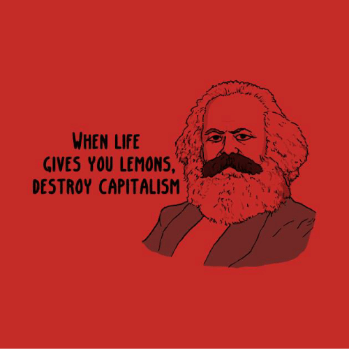 Life, Memes, and Capitalism: WHEN LIFE  GIVES YOU LEMONS,  DESTROY CAPITALISM  is: