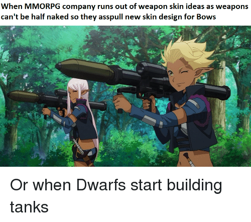 When MMORPG Company Runs Out of Weapon Skin Ideas as Weapons
