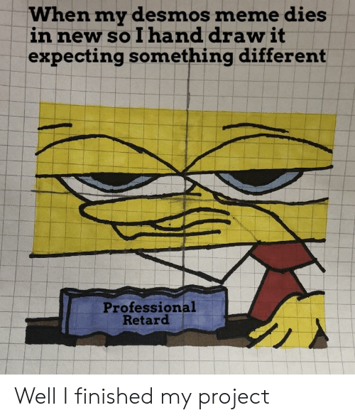 When My Desmos Meme Dies in New So I Hand Draw It Expecting