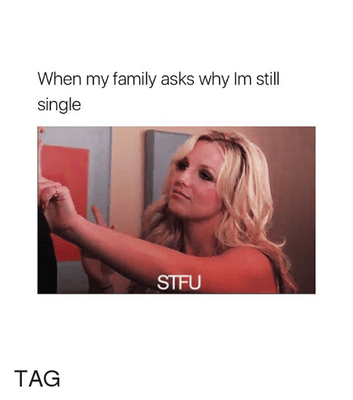 Family, Stfu, and Girl Memes: When my family asks why Im still  single  STFU TAG