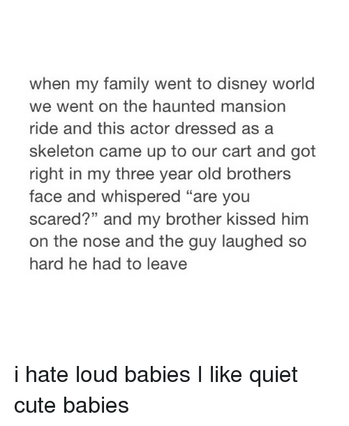When My Family Went to Disney World We Went on the Haunted