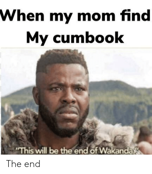 Dank Memes, Mom, and Will: When my mom find  My cumbook  This will be the end of Wakanda The end