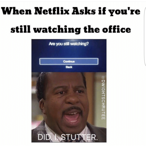When Netflix Asks if You're Still Watching the Office Are