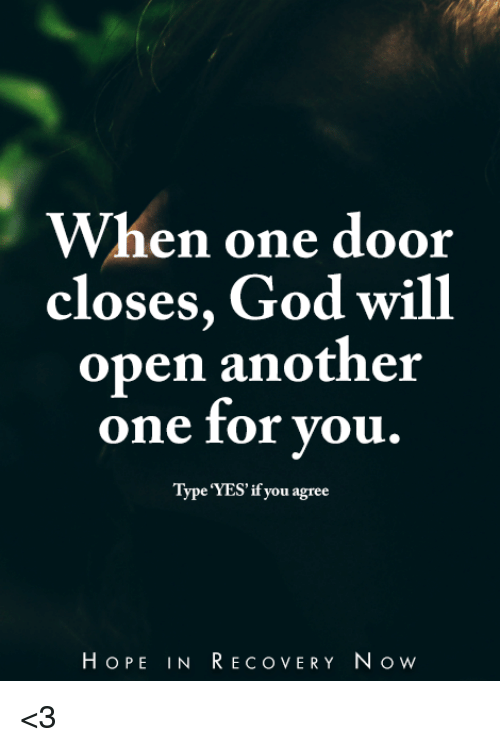 Image result for open the door to recovery