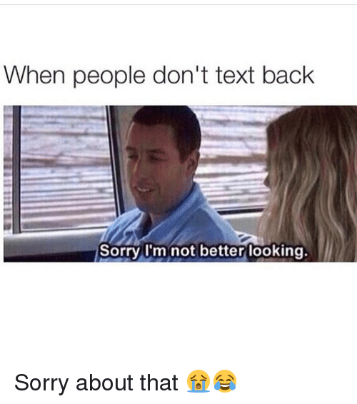 Text why back dont people How to