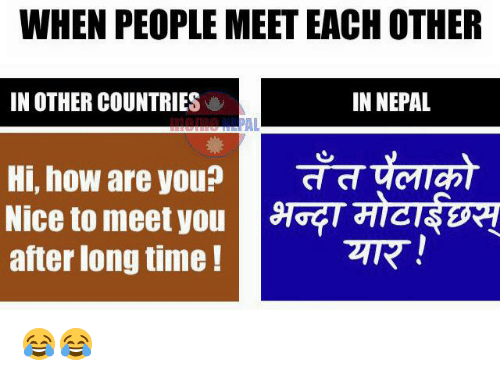 meet people from other countries