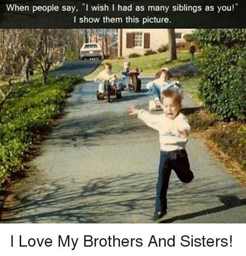 when people say i wish i had as many siblings 3021363 ✅ 25 best memes about i love my brother and sister i love my