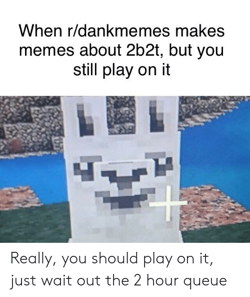 When Rdankmemes Makes Memes About 2b2t but You Still Play on