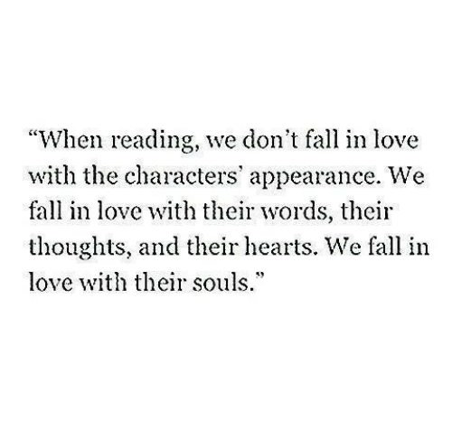 When Reading We Don't Fall in Love With the Characters' Appearance