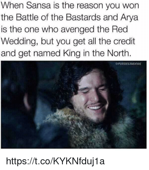 When Is The Red Wedding.When Sansa Is The Reason You Won The Battle Of The Bastards