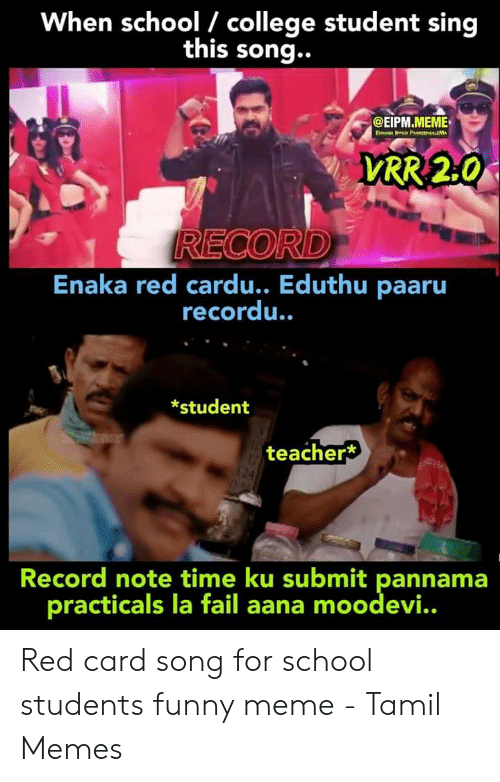 When School College Student Sing This Song Reco Enaka Red Cardu