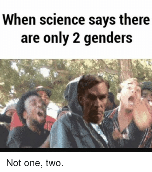 when science says there are only 2 genders not one 8147991 when science says there are only 2 genders not one two meme on me me